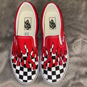 Checkered Vans With Blood Drip